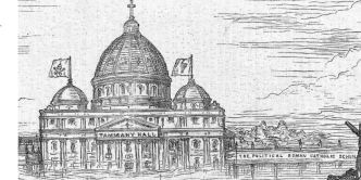 Detail of Tammany Hall as the Vatican
