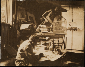 Thomas Nast at his desk, ca. 1880 Source: Museum of New York City