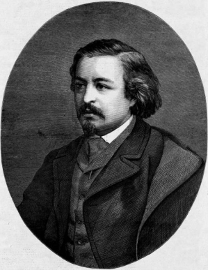 An engraving of Thomas Nast from a photo, as it appeared in Harper's Weekly