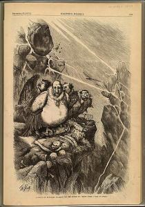 "Group of Vultures waiting for the storm to blow over - let us prey,""13-September-1871 by Thomas Nast for Harper's Weekly. Source: Library of Congress"