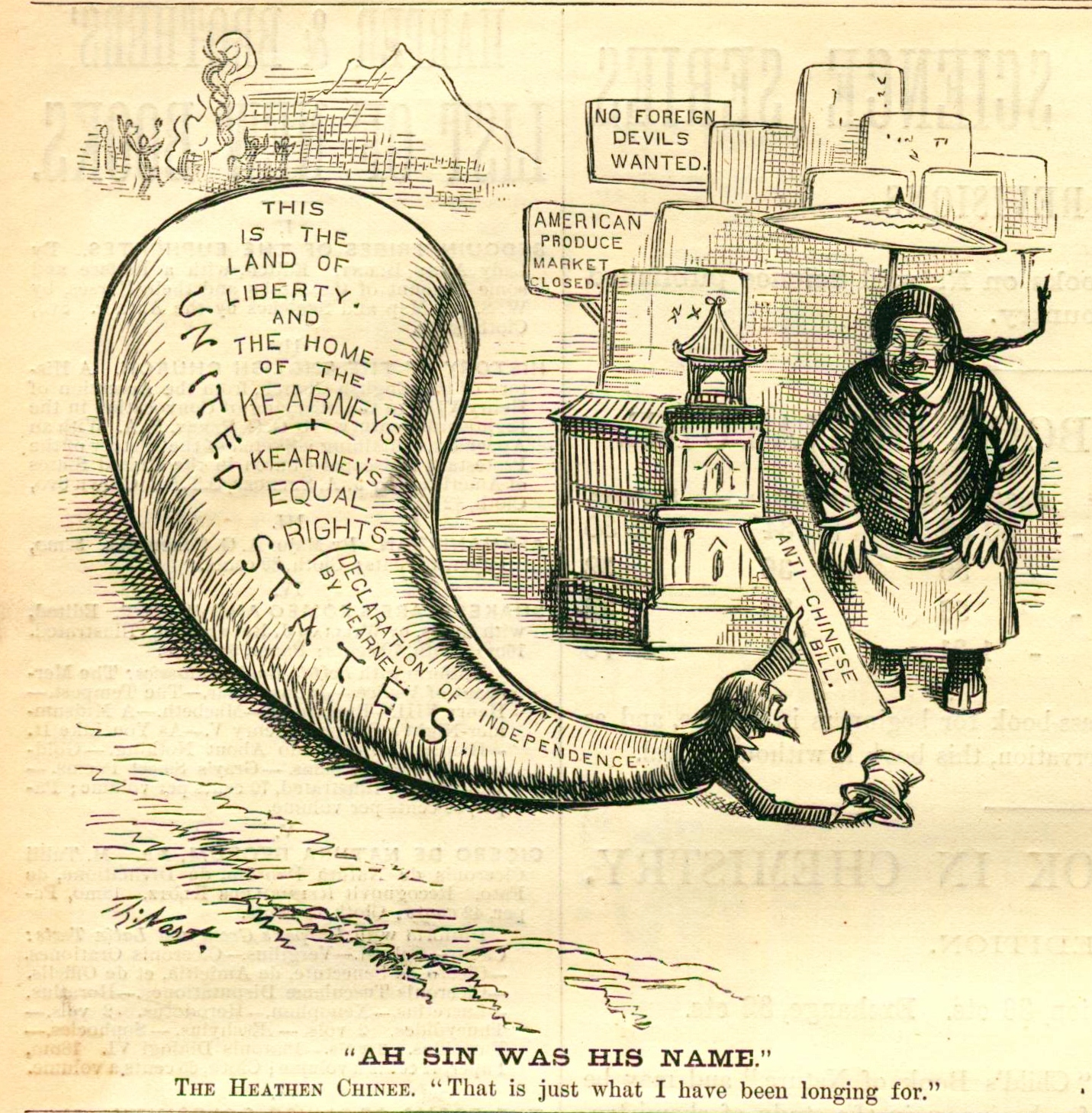 """""""Ah Sin Was His Name"""" 1879 