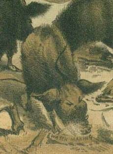 Detail of Keller's Chinese pigs in Devastation