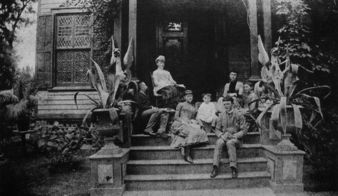 The Nast family in 1884 on the steps of their Morristown, N.J. home. Source: http://newprovidencedailyphoto.wordpress.com/2011/10/17/thomas-nasts-house/