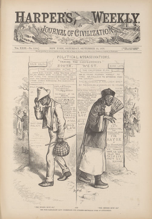"""""The Nigger Must Go"" and ""The Chinese Must Go""""  1879"