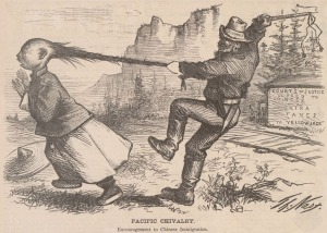 Pacific Chivalry, Harper's Weekly, 7 August, 1869