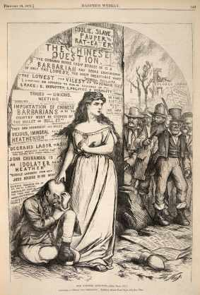 The Chinese Question by Thomas Nast, Harper's Weekly, February 18, 1871