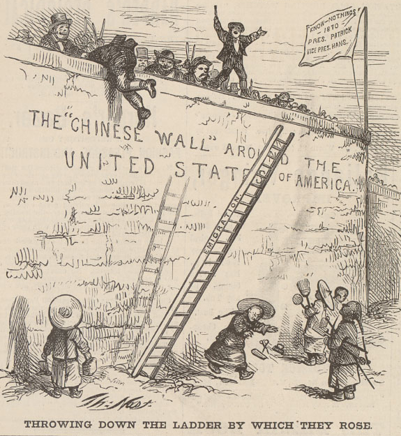 """Throwing Down the Ladder by Which They Rose"" 1870"