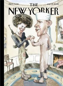 This New Yorker cover from 2008 elicited a great deal of conversation and controversy.