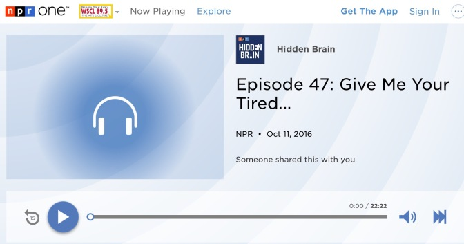 "NPR Podcast ""Hidden Brain"" looks at immigration history"